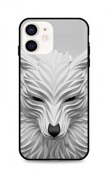 Zadní pevný kryt LUXURY na iPhone 12 mini Bílý vlk