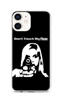 Zadní silikonový kryt na iPhone 12 mini Don't Touch Gun