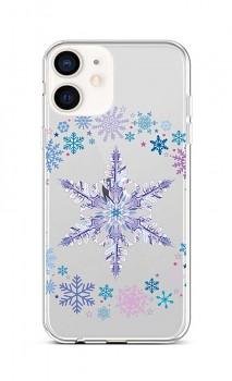 Zadní silikonový kryt na iPhone 12 mini Snowflake