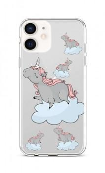 Zadní silikonový kryt na iPhone 12 mini Grey Unicorns