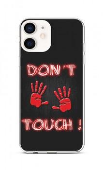 Zadní silikonový kryt na iPhone 12 mini Don't Touch Red