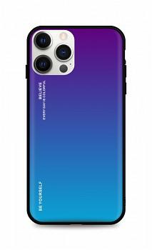 Zadní pevný kryt LUXURY na iPhone 12 Pro duhový purpurový