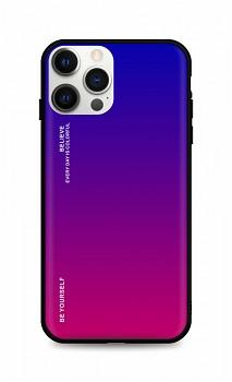 Zadní pevný kryt LUXURY na iPhone 12 Pro Max duhový fialový