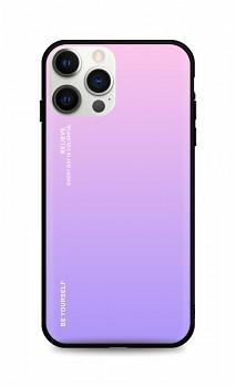 Zadní pevný kryt LUXURY na iPhone 12 Pro Max duhový růžový
