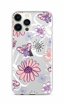 Zadní silikonový kryt na iPhone 12 Pro Max Flowers
