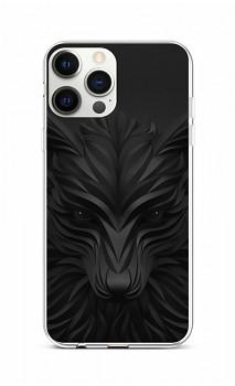 Zadní silikonový kryt na iPhone 12 Pro Max Černý vlk
