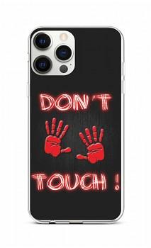 Zadní silikonový kryt na iPhone 12 Pro Max Don't Touch Red