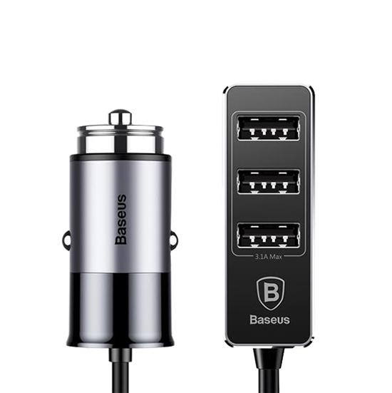 Autodobíječ Baseus se čtyřmi USB porty 5.5A šedo-černý 53632