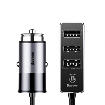 Autodobíječ Baseus se čtyřmi USB porty 5.5A šedo-černý