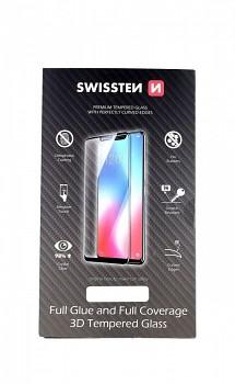 Tvrzené sklo Swissten na iPhone 12 3D zahnuté černé