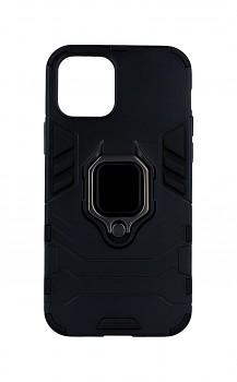 Ultra odolný zadní kryt na iPhone 12 Pro černý s prstenem