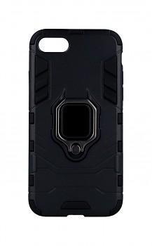 Ultra odolný zadní kryt na iPhone SE 2020 černý s prstenem