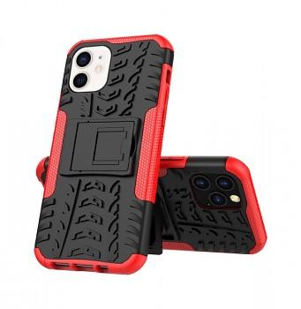 Ultra odolný zadní kryt na iPhone 12 mini červený