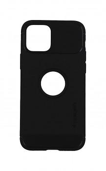 Zadní silikonový kryt Spigen Rugged Armor na iPhone 12 Pro černý