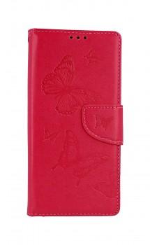 Knížkové pouzdro na Xiaomi Redmi Note 9 Butterfly růžové
