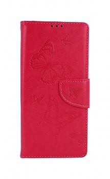 Knížkové pouzdro na Xiaomi Redmi 9A Butterfly růžové
