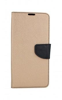 Knížkové pouzdro na Xiaomi Redmi 9C zlato-černé