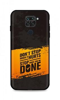 Zadní silikonový kryt DARK na Xiaomi Redmi Note 9 Don´t Stop