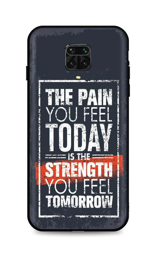 Zadní silikonový kryt DARK na Xiaomi Redmi Note 9 Pro Strength