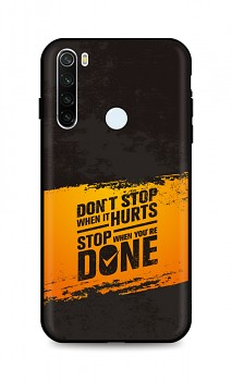 Zadní silikonový kryt DARK na Xiaomi Redmi Note 8T Don´t Stop