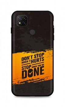 Zadní silikonový kryt DARK na Xiaomi Redmi 9C Don´t Stop