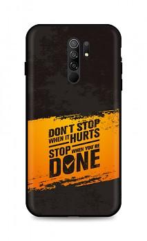 Zadní silikonový kryt DARK na Xiaomi Redmi 9 Don´t Stop