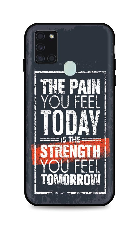 Zadní silikonový kryt DARK na Samsung A21s Strength
