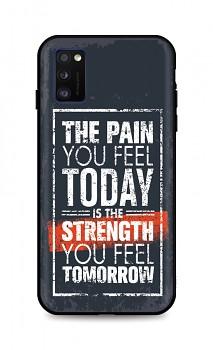 Zadní silikonový kryt DARK na Samsung A41 Strength