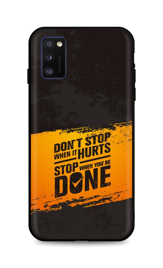 Zadní silikonový kryt DARK na Samsung A41 Don´t Stop