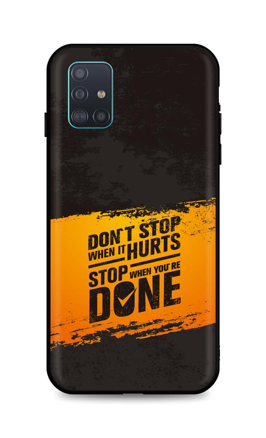Zadní silikonový kryt DARK na Samsung A51 Don´t Stop