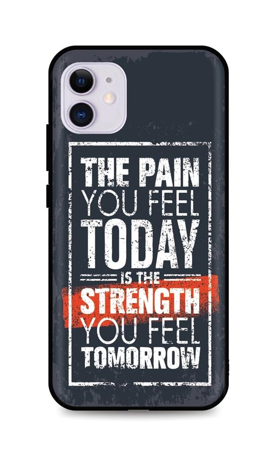 Zadní silikonový kryt DARK na iPhone 11 Strength