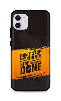 Zadní silikonový kryt DARK na iPhone 11 Don´t Stop