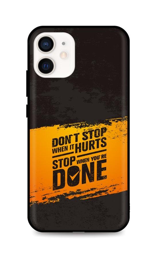 Zadní silikonový kryt DARK na iPhone 12 mini Don´t Stop