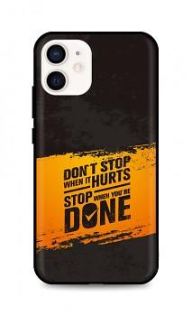 Zadní silikonový kryt DARK na iPhone 12 Don´t Stop