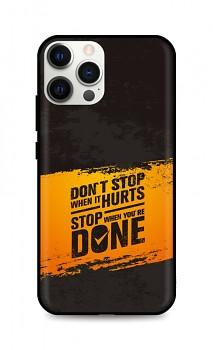 Zadní silikonový kryt DARK na iPhone 12 Pro Don´t Stop