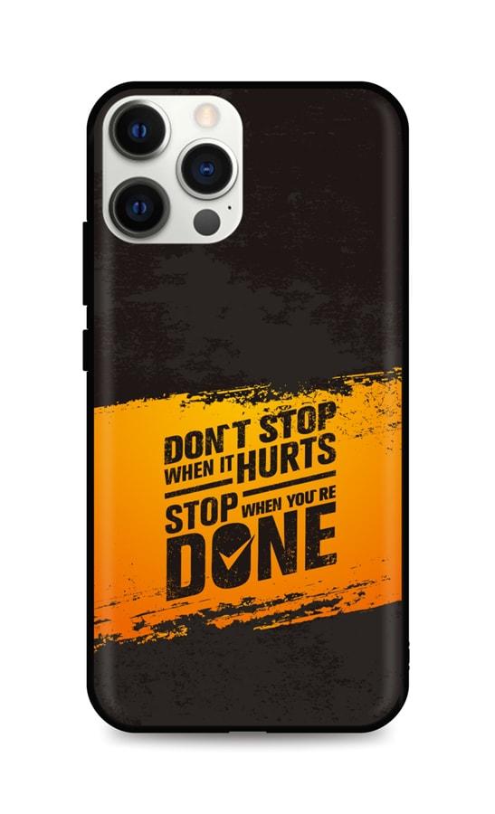 Zadní silikonový kryt DARK na iPhone 12 Pro Max Don´t Stop