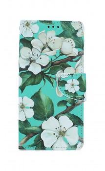 Knížkové pouzdro na Samsung A21s Malované květy