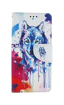 Knížkové pouzdro na Samsung A41 Kresba vlka