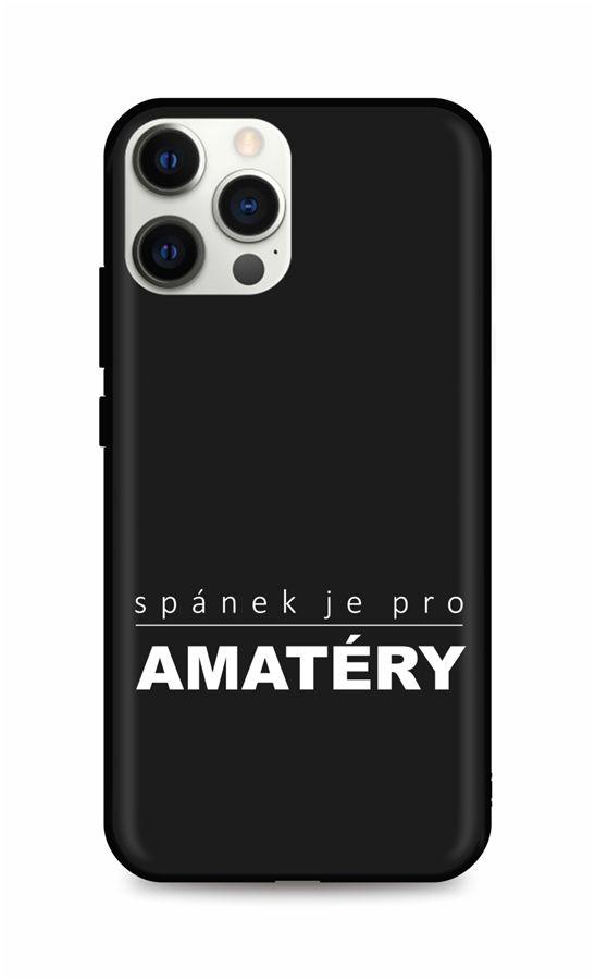 Zadní silikonový kryt DARK na iPhone 12 Pro Bez spánku