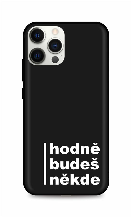 Zadní silikonový kryt DARK na iPhone 12 Pro Hodně budeš někde