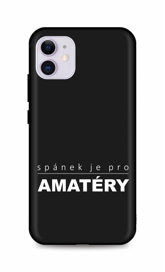 Zadní silikonový kryt DARK na iPhone 11 Bez spánku