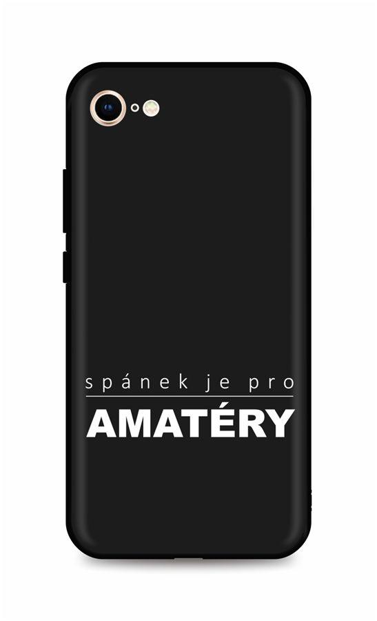 Zadní silikonový kryt DARK na iPhone SE 2020 Bez spánku