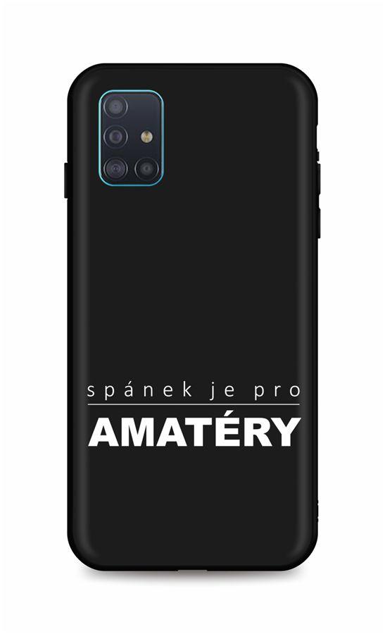 Zadní silikonový kryt DARK na Samsung A71 Bez spánku