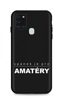Zadní silikonový kryt DARK na Samsung A21s Bez spánku