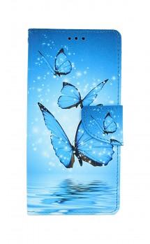 Knížkové pouzdro na Xiaomi Redmi Note 9 Modří motýlci