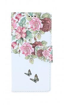 Knížkové pouzdro na Xiaomi Redmi Note 9 Něžné květy