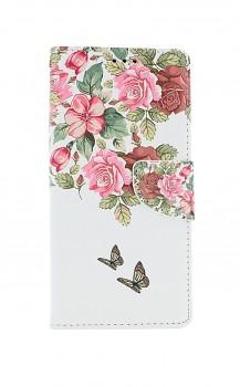 Knížkové pouzdro na Xiaomi Redmi Note 9 Pro Něžné květy