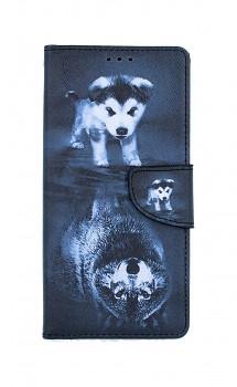 Knížkové pouzdro na iPhone SE 2020 Odraz vlka