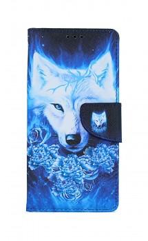 Knížkové pouzdro na iPhone SE 2020 Tyrkysový vlk
