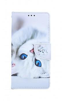 Knížkové pouzdro na iPhone SE 2020 Kočička